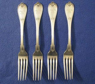 Set Of 4 Vintage German Heinrich Erhardt & Co Sp 8