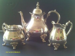 Vintage Silver Plate Tea Service (american Rose) photo