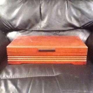 1881 Rogers Vintage Silverware Storage Box Flatware Chest Wood Art Deco photo