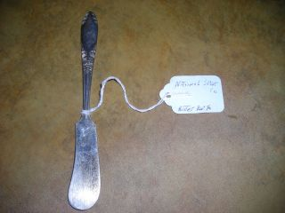 Small Butter Knife By National Silver Co.  Pattern King Edwards,  Circa 1951s. photo