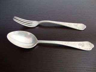 Antique Silver (96,  6%) Spoon And Fork