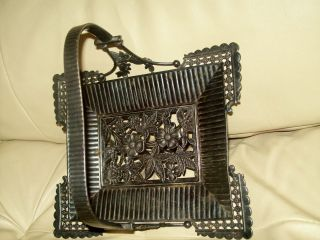 Antique Derby Silver Company Quadruple Plated Floral Basket photo