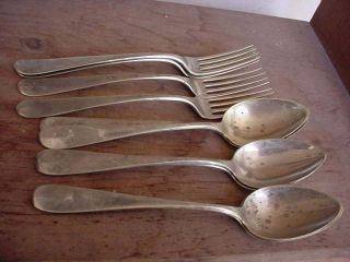 Vintage Spoon & Forks It Could Landers Packfonp Rogers Bros It ' S Got Crown Stamp photo