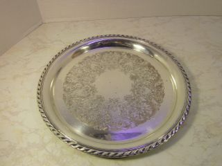 Wm Rogers Silver Plated Serving Tray No.  471 photo