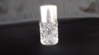 Lovely Petite Sterling Silver And Crystal Vanity Jar C.  1910 England - Mint photo