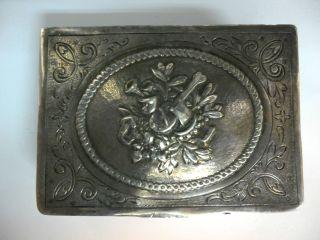 Antique Silver Snuff Box Tobacco Case Germany Hanau Sweden Heavy 128 Grams photo