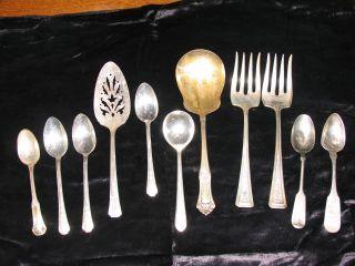 Silverplate Odd Grouping Of Flatware photo