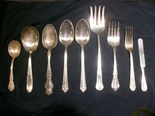 Mixed 9 Silver Plated Flatware photo