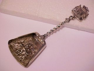 Great Antique Sterling Silver Hallmarked Souvenir Spoon Dutch Master Hallmarked photo