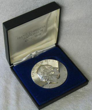 Georg Jensen Hans Christian Andersen Sterling Silver Commemorative Medal Coin photo