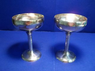 Pair Of Blackinton Silverplate Goblets photo