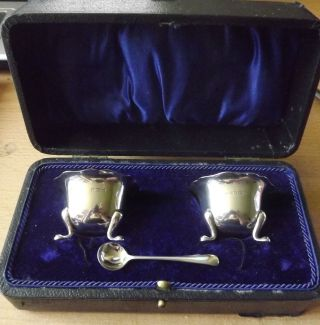 Solid Silver Cruet Set - 1919 Joseph Gloster Ltd photo