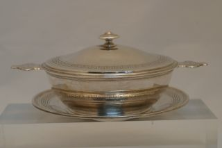 Antique French Silver Ecuelle Tureen Signed F.  Hugo photo
