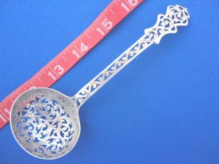 1860 Antique Sterling Silver Sugar Sifter Ladle England Hilliard & Thomason photo