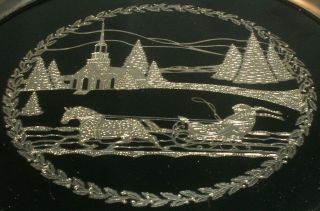 Limited Edition - Oneida - Silver And Black Acrylic - Christmas Plate photo