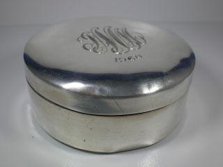 Vintage D1960 Reed & Barton Sterling Powder Box Receptacle/compact 134grams photo