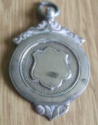 1933 Solid Sterling Silver Football Fob Medal photo