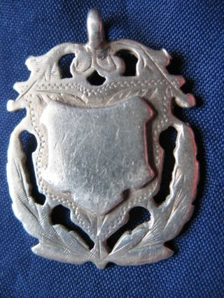 Antique Victorian Solid Silver Watch Chain Fob Birmingham 1886 - 87 photo