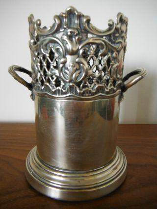 Vintage Antique English Silver Wine Coaster photo