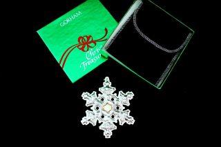 Gorham Sterling Silver Christmas Snowflake Ornament 1982 photo