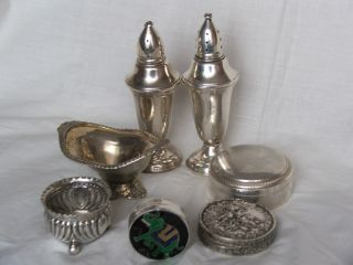 Antique Sterling Silver Collection Of Objects To Showcase photo