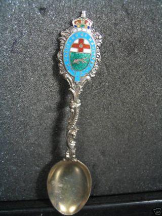 Sterling Vintage Manitoba Canada Enameld Spoon photo