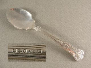 Vintage Solid Silver Kings Pattern Jam Spoon.  Hallmarked Sheffield 1969 photo