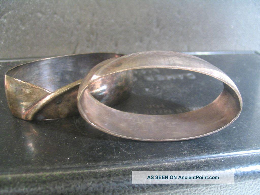 German Bremen. 800 Silver Pair Of Napkin Rings Modern Design Nm Other ...
