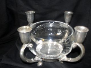 Vintage / Antique Reed & Barton 331 Silverplate Centerpiece Candleholder photo