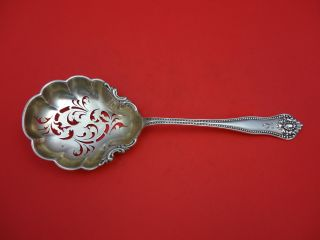 Lexington By Knowles & Mount Vernon Sterling Silver Pea Spoon Goldwashed 9 1/8