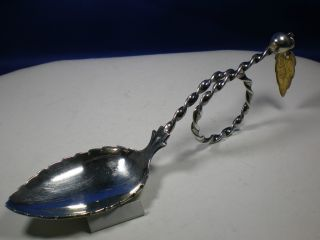 Norway 830 Silver Tea Caddy Twisted Spoon Sylvsmidja photo