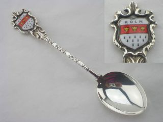 German Silver Souvenir Spoon 1960c Koln 835 Grade photo