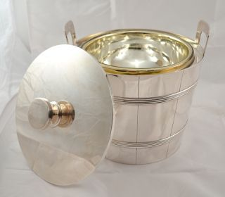 Large Tiffany & Co Makers Art Deco Sterling Silver Covered Ice Bucket photo