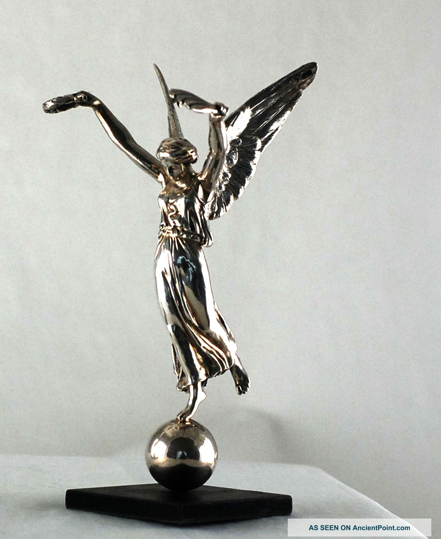 Pair Sterling Silver Angels – London 1850 - Maker George Angell ...
