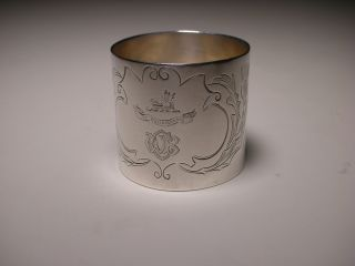 Vintage Clan Campbell Sterling Silver Napkin Ring