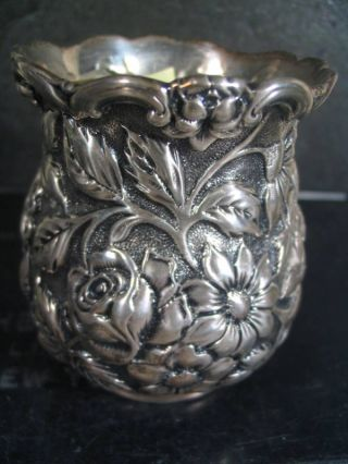 Sterling Or Coin Floral Toothpick Matchstick Hldr photo