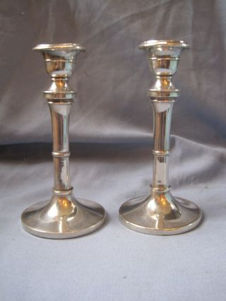Antique Solid Silver Candlesticks photo