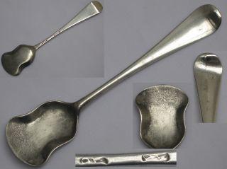 English Antique Sterling Silver Georgian 1800's Salt Shovel London. photo