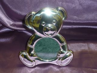 Sterling Silver.  925 Baby Picture Frame W Teddy Bear photo