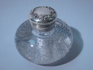 Gorham American Sterling Silver Pairpoint Glass Inkwell Inkpot photo