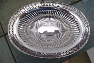 Stunning Reticulated Webster Sterling Silver Bon - Bon Dish photo