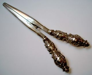 Edwardian 1903 Hallmarked Sterling Silver Glove Stretchers photo