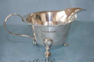 Sterling Solid Silver Sauce Boat/jug Hm Sheffield 1910 109.  1g photo