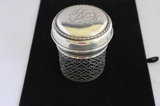Sterling Silver Jar Cover 127.  6 Grams photo