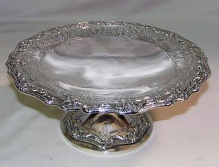 Silver Comport Dish Graff,  Washbourne & Dunn Sterling photo