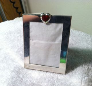 Tiffany & Co.  Vintage Sterling Silver Red Heart Enamel Frame photo