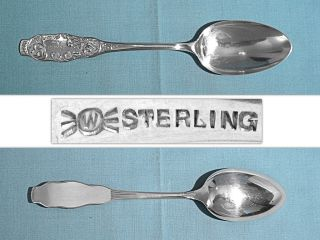 Frank Whiting Sterling Dessert Spoon Esther Engraved