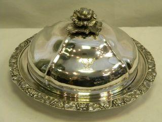 Antique Georgian Geo.  Iii Silver Muffin Dish & Cover London 1796 photo
