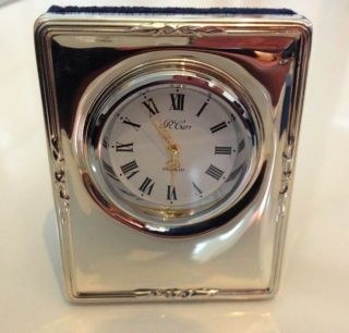 R Carrs Of Sheffield 1998 Solid Sterling Silver 925 Clock Not Scrap photo
