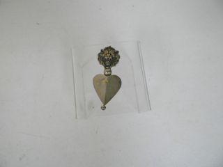 Devries Sterling Silver & 18 Kt Gold Lion Corner Ornament Of Some Sort photo